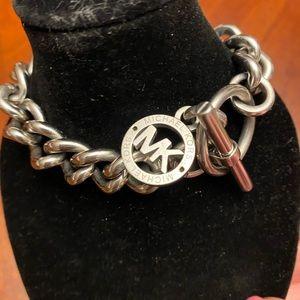 Michael Kors silver chain toggle bracelet